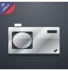 Photo camera icon symbol 3D style Trendy modern vector image