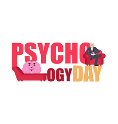 psychology day consultation of psychotherapist vector image