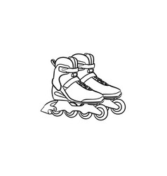 roller shoes hand drawn sketch icon vector image