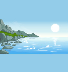 seascape with peaks vector image