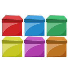 set of colorful boxes vector image