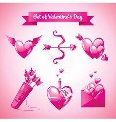 Set of valentines day vector