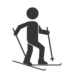 Ski board snow pictogram vector