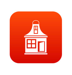 small house icon digital red vector image