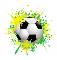 soccer ball 1 vector image
