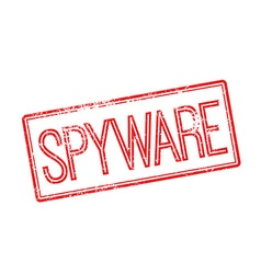 Spyware red rubber stamp on white vector