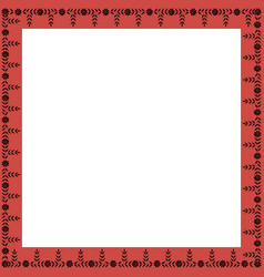 square frame with greek floral ornament vector image