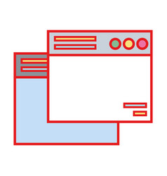 Technology windows element and website document vector