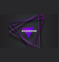 Template black abstract background with purple vector