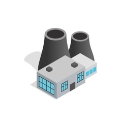 Thermal power station icon isometric 3d style vector