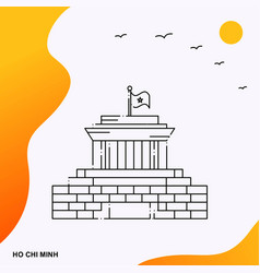 Travel ho chi minh poster template vector