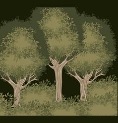 tree forest landscape blurred colors vector image