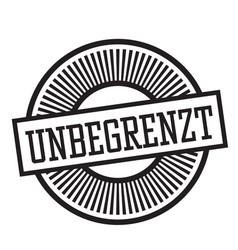 Unlimited stamp in german vector