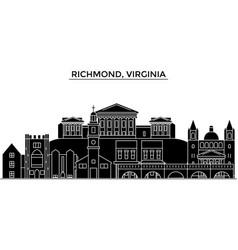 Usa richmond virginia architecture city vector