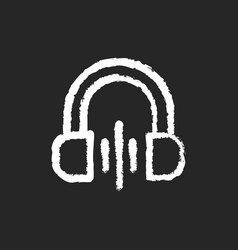 volume chalk white icon on black background vector image
