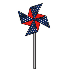 wind spin toy united states america flag vector image