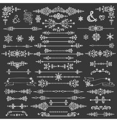 Winter decorationbordes dividersChristmasNew vector