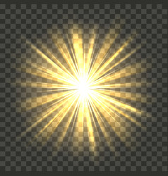 yellow bright radiance vector image