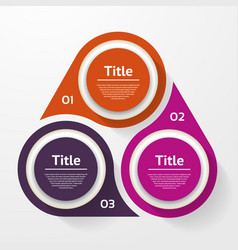 circle infographic template for diagram graph vector image vector image