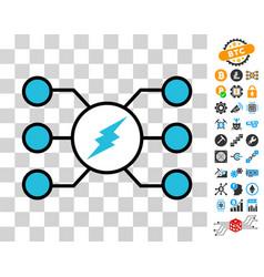 electroneum masternode links icon with bonus vector image