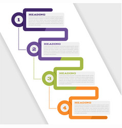 infographic set for web design and presentations vector image