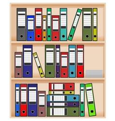 office shelf vector image vector image