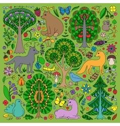 Wonderland Fun Forest vector image