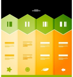 Infographic numbered banners vector image
