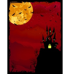 Spooky Halloween with copy space EPS 8 vector image