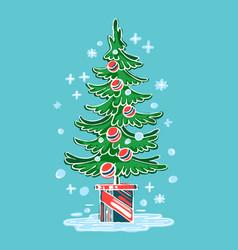 symbol christmas winter vector image vector image