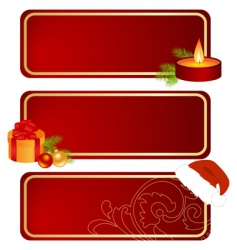 three Christmas tablets vector image vector image