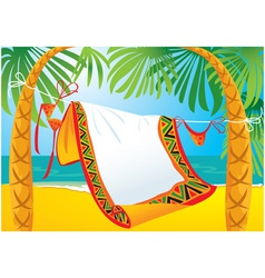 landscape frame with tropic beach vector image