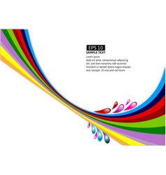 multi-colour line wave on white background vector image vector image