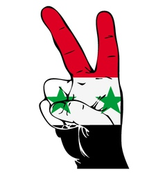 Peace Sign of the Syrian flag vector image vector image