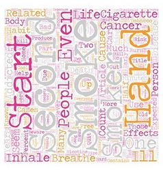 Beware of What You Puff text background wordcloud vector image vector image