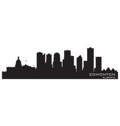 Edmonton Canada skyline Detailed silhouette vector image