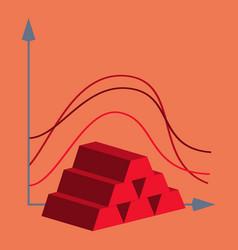 Flat icon on theme arabic business bar chart vector