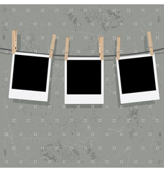 Photo Frames on Rope8 vector image vector image