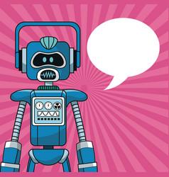 Robot intelligence artificial bubble speech vector