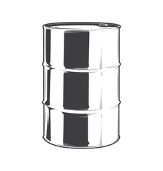 Steel oil barrel vector image