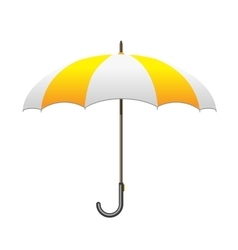 Striped white and yellow Umbrella Care and vector image vector image