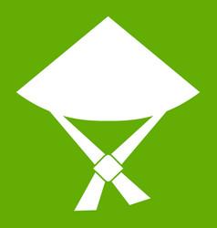 vietnamese hat icon green vector image vector image