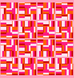 Abstract flat retro seamless pattern vector