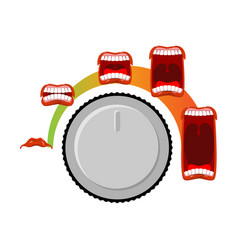 adjust volume shout level stage ora open mouth vector image