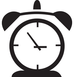 alarm clock icon isolated watch object time office vector image