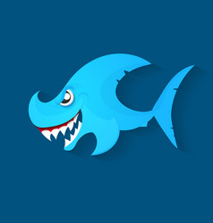 Angry shark logo vector