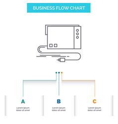audio card external interface sound business flow vector image
