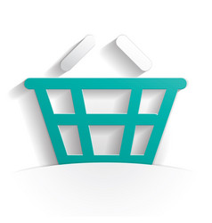 basket icon paper vector image