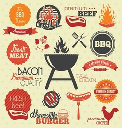 Bbq icons resize vector