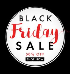 black friday sale label banner vector image